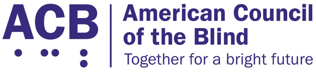 ACB American Council of the Blind logo.